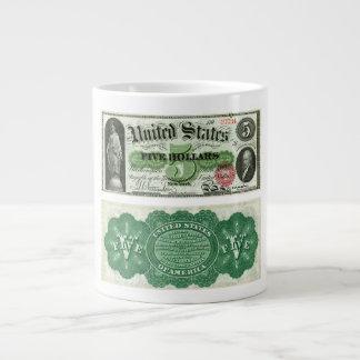 Estados Unidos $5 series del billete de banco de 1 Taza De Café Grande