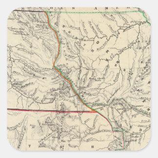 Estados Unidos al sudoeste Calcomanía Cuadradas
