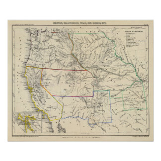 Estados Unidos al sudoeste Impresiones