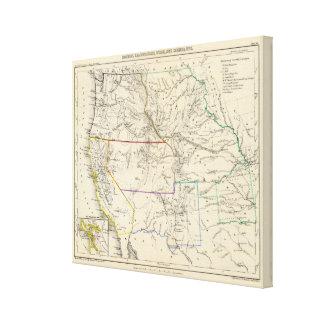 Estados Unidos al sudoeste Impresión En Lienzo Estirada