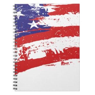 Estados Unidos/bandera americana de la estrella, U Cuadernos