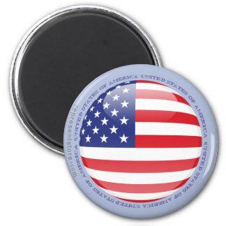 Estados Unidos burbujean bandera Imán De Frigorifico