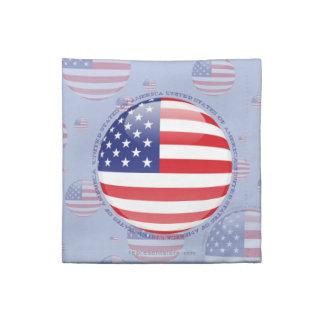 Estados Unidos burbujean bandera Servilleta De Papel