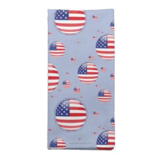 Estados Unidos burbujean bandera Servilletas Imprimidas