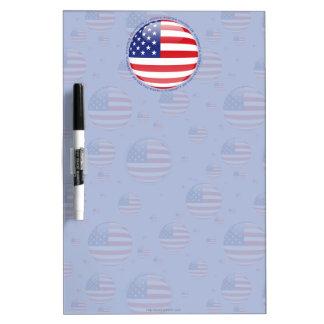 Estados Unidos burbujean bandera Tablero Blanco