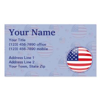 Estados Unidos burbujean bandera Tarjetas De Visita