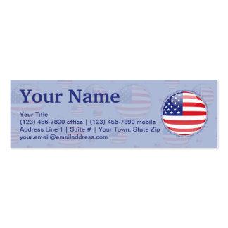 Estados Unidos burbujean bandera Tarjetas De Visita Mini
