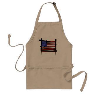 Estados Unidos cepillan la bandera Delantales
