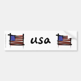 Estados Unidos cepillan la bandera Pegatina Para Auto