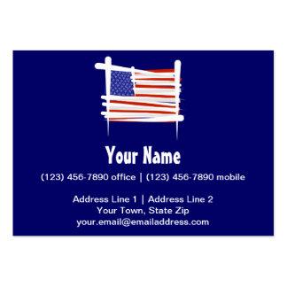 Estados Unidos cepillan la bandera Tarjetas De Visita Grandes
