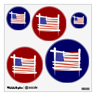 Estados Unidos cepillan la bandera Vinilo Adhesivo