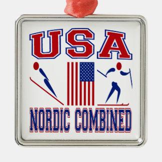 Estados Unidos combinados nórdicos Ornamento Para Arbol De Navidad