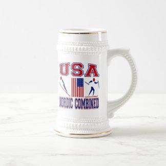 Estados Unidos combinados nórdicos Jarra De Cerveza