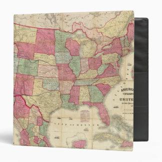 "Estados Unidos continentes americanos Carpeta 1 1/2"""