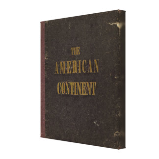 Estados Unidos continentes americanos Lona Envuelta Para Galerias