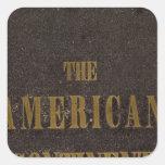 Estados Unidos continentes americanos Calcomanía Cuadrada Personalizada