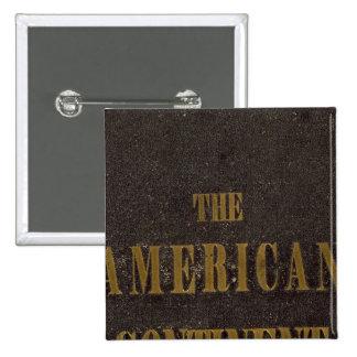 Estados Unidos continentes americanos Pin Cuadrada 5 Cm