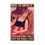 Estados Unidos de AmericaWar II promocional Postal