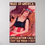 Estados Unidos de AmericaWar II promocional Póster