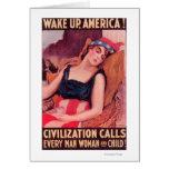 Estados Unidos de AmericaWar II promocional Tarjeta De Felicitación