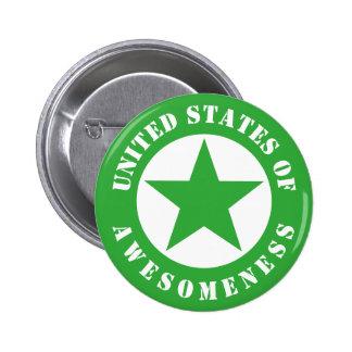 Estados Unidos de Awesomeness Pin Redondo De 2 Pulgadas