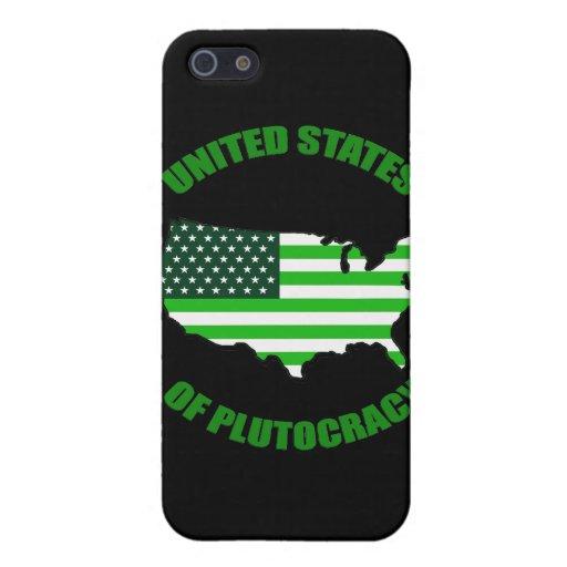 Estados Unidos de la plutocracia iPhone 5 Protectores