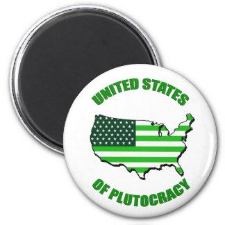 Estados Unidos de la plutocracia Imán Para Frigorifico