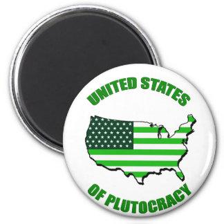 Estados Unidos de la plutocracia Imán Redondo 5 Cm