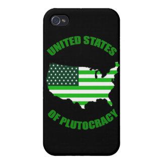Estados Unidos de la plutocracia iPhone 4 Funda