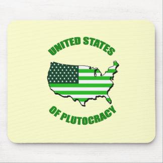 Estados Unidos de la plutocracia Tapetes De Ratones