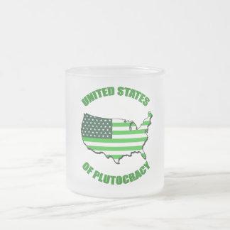 Estados Unidos de la plutocracia Taza De Cristal