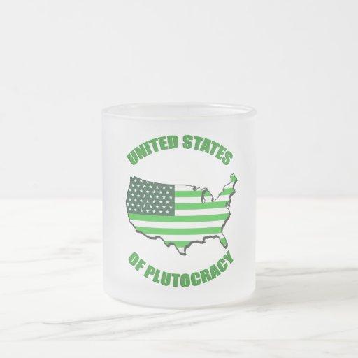Estados Unidos de la plutocracia Tazas De Café