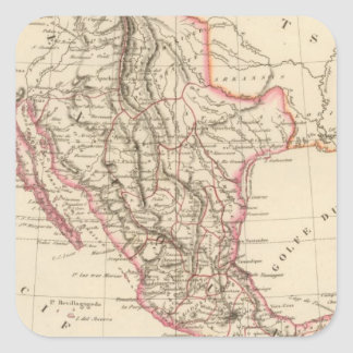 Estados Unidos de México, 1835 Pegatina Cuadrada