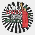 Estados Unidos de México Pegatina Redonda