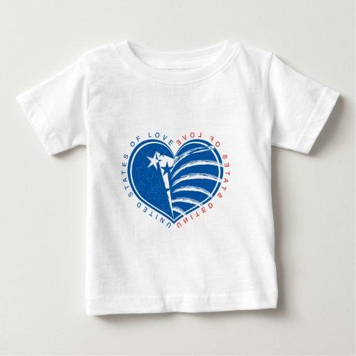 Estados Unidos del amor Tshirt