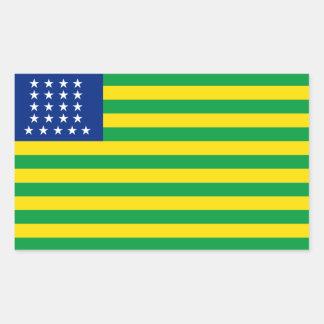 Estados Unidos del Brasil señalan a los pegatinas Pegatina Rectangular