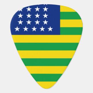 Estados Unidos del Brasil señalan por medio de una Uñeta De Guitarra