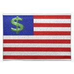 Estados Unidos del dinero Manteles Individuales