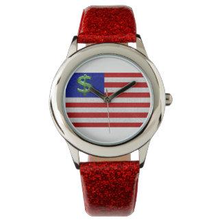 Estados Unidos del dinero Relojes De Pulsera
