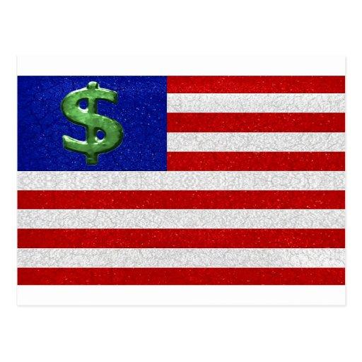 Estados Unidos del dinero Tarjetas Postales