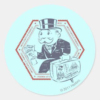 Estados Unidos del monopolio Pegatina Redonda