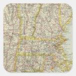 Estados Unidos del noreste 2 Calcomania Cuadradas Personalizada