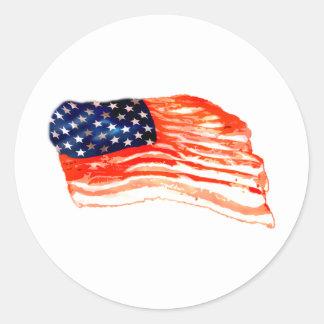 Estados Unidos del tocino Etiqueta Redonda
