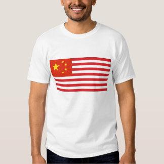 Estados Unidos, hechos en China Poleras