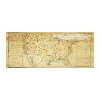 Estados Unidos incluyendo los territorios occident Impresion De Lienzo