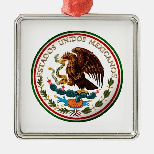 Estados Unidos Mexicanos (Eagle de la bandera mexi Ornamentos De Navidad