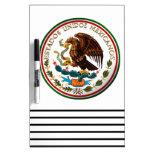 Estados Unidos Mexicanos (Eagle de la bandera mexi Tableros Blancos