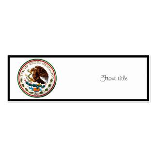 Estados Unidos Mexicanos (Eagle de la bandera mexi Tarjeta De Visita