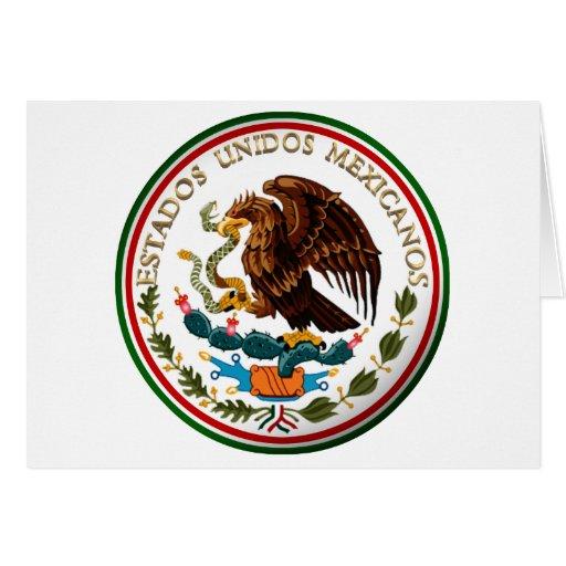 Estados Unidos Mexicanos (Eagle de la bandera Tarjeta De Felicitación