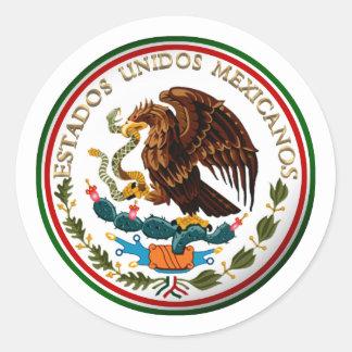 Estados Unidos Mexicanos (Eagle from Mexican Flag) Classic Round Sticker